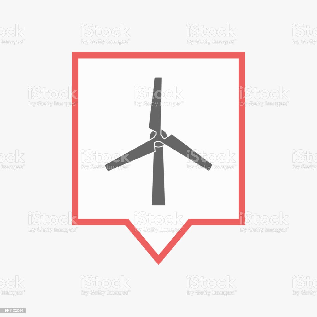 Isolated Tooltip With A Wind Turbine Stock Vector Art & More Images of  Backgrounds