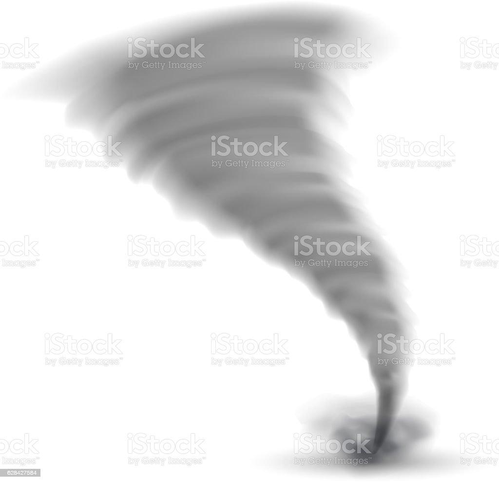 Isolated Tornado vector art illustration