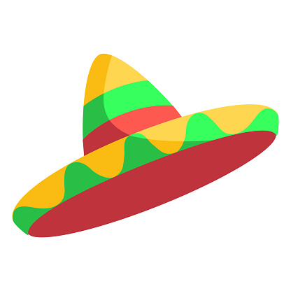 Isolated traditional mexican hat