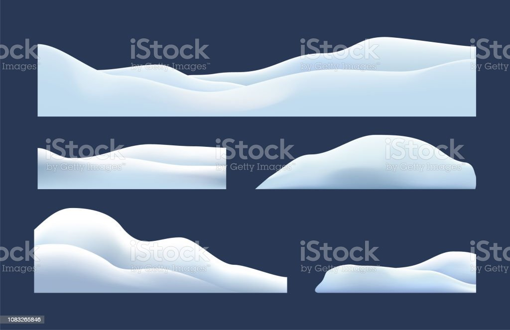 Isolated, transparent of snow caps, pile, icicles, ice, snowball and snowdrift. Winter decorations, Christmas, snow texture, white elements, holiday vector snow. - arte vettoriale royalty-free di Bellezza