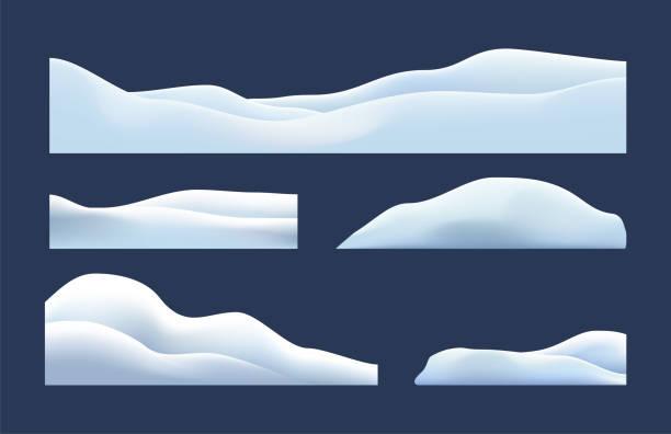 isoliert, transparent von schnee kappen, haufen, eiszapfen, eis, schneeball und schneewehe. winter dekorationen, weihnachten, schnee textur, weiße elemente, urlaub vektor schnee. - haufen stock-grafiken, -clipart, -cartoons und -symbole