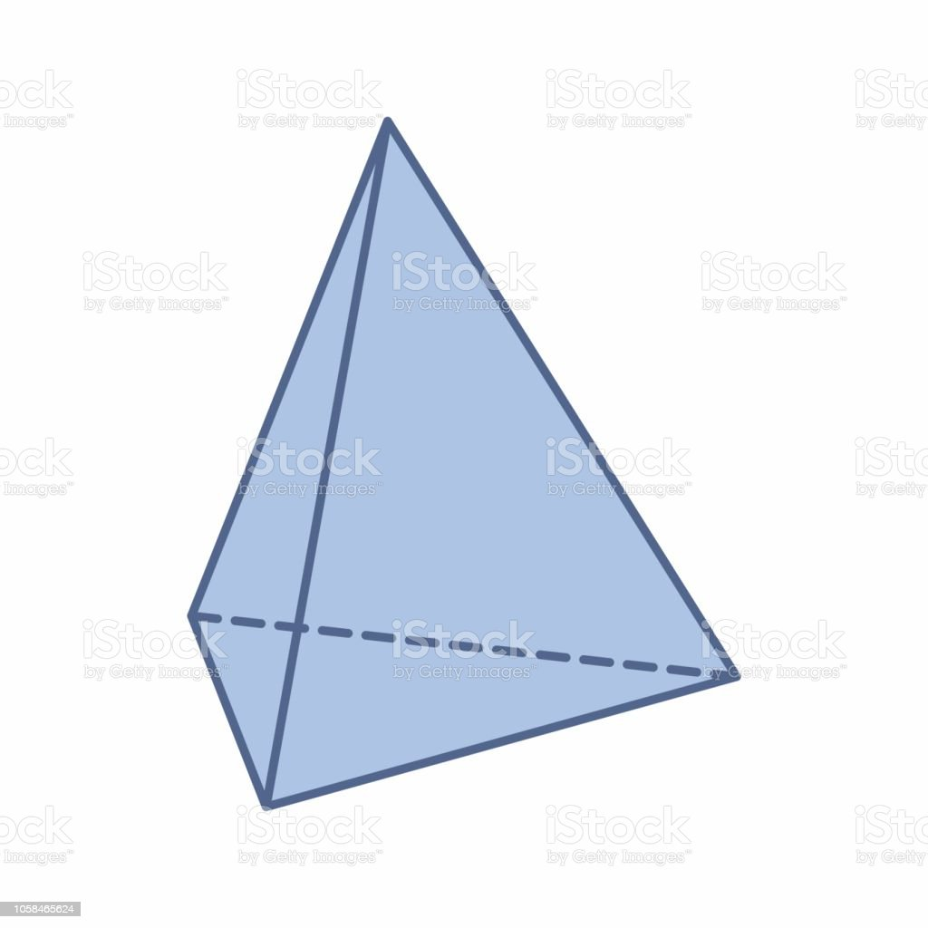 isolated triangular pyramid illustration stock vector art more