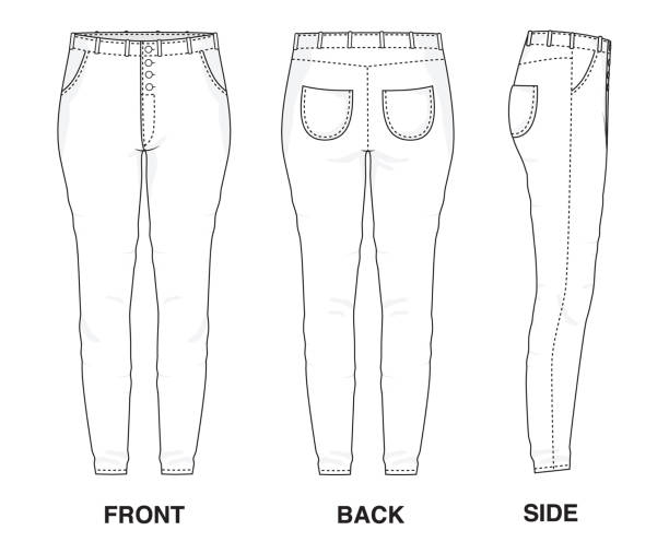 Best Skinny Jeans Illustrations, Royalty-Free Vector