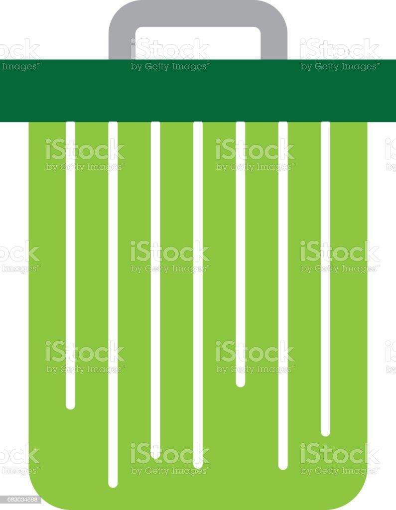 isolated trush can isolated trush can - arte vetorial de stock e mais imagens de arremessar royalty-free