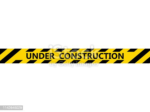 Isolated under construction tape. Vector illustration design