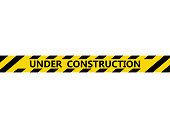 Isolated under construction tape