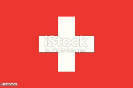 istock Isolated vector image of the flag of Switzerland 467250059