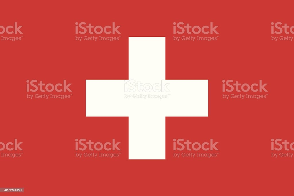 Isolated vector image of the flag of Switzerland vector art illustration