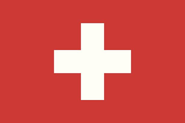 illustrazioni stock, clip art, cartoni animati e icone di tendenza di bandiera della svizzera - svizzera