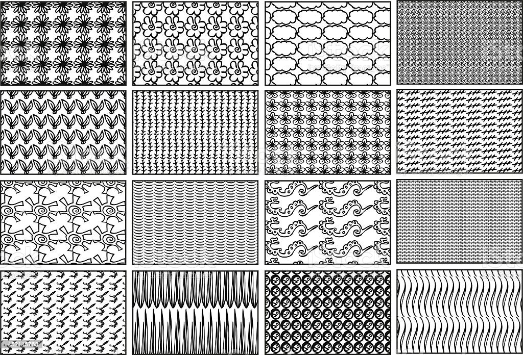 Isolated Vector Patterned Backgrounds royalty-free stock vector art
