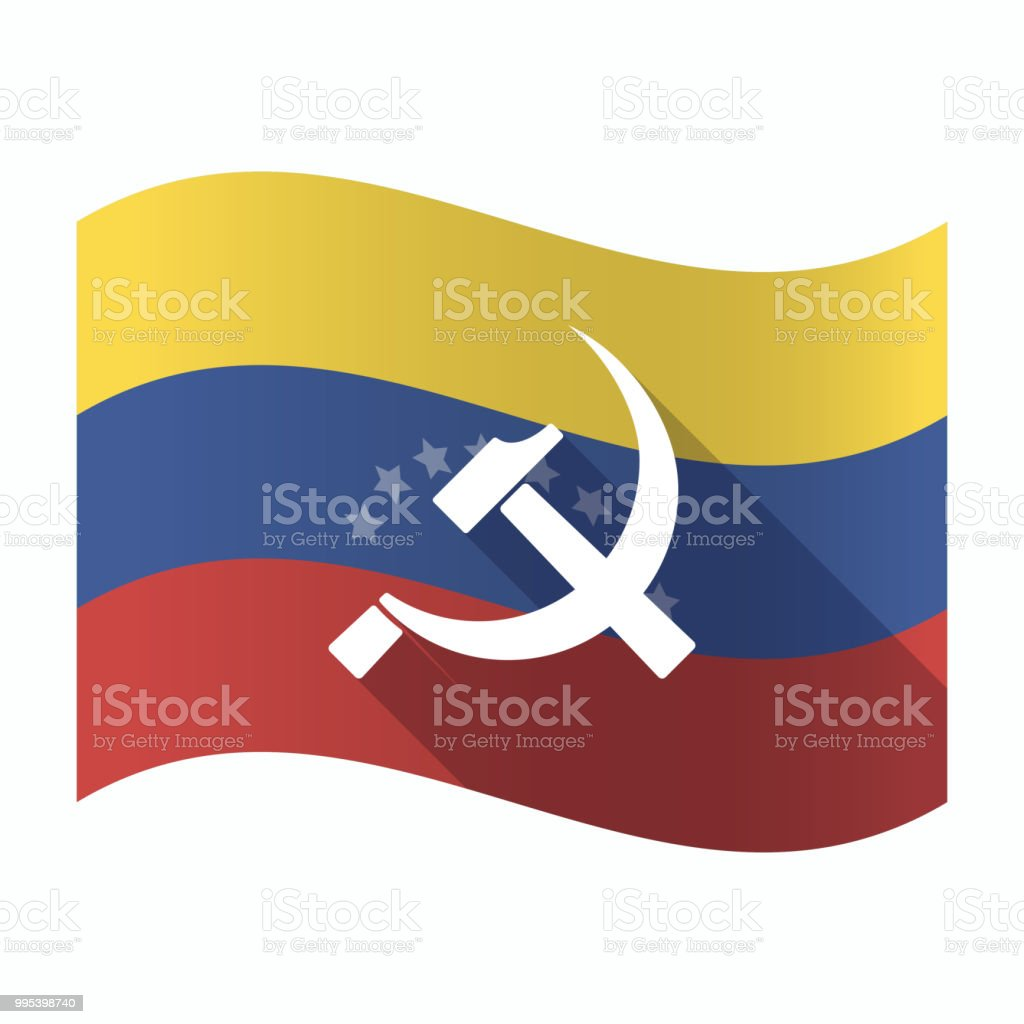 Isolated Venezuela Flag With The Communist Symbol Stock Vector Art