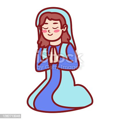 Free Virgin Mary Clipart In Ai Svg Eps Or Psd