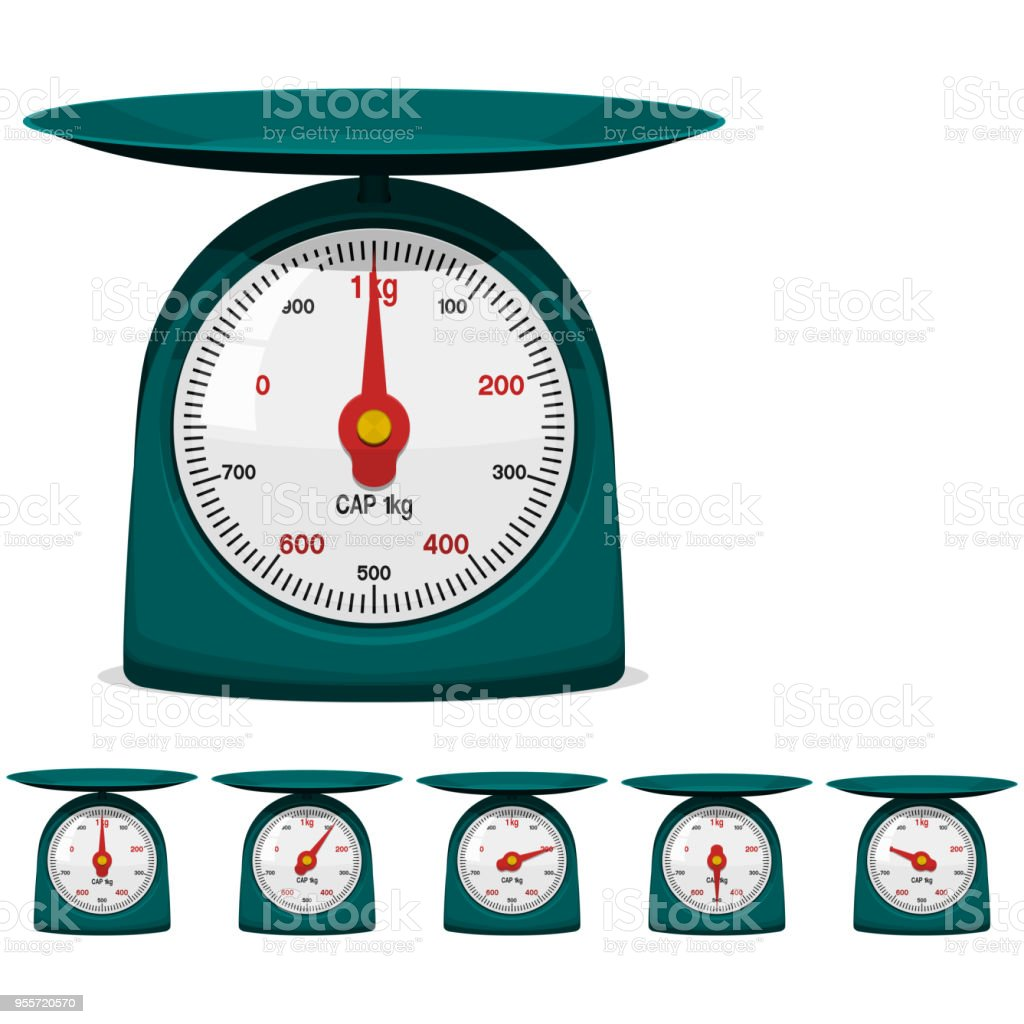 Isolated Weight Scale On Transparent Background Stock Vector Art ...