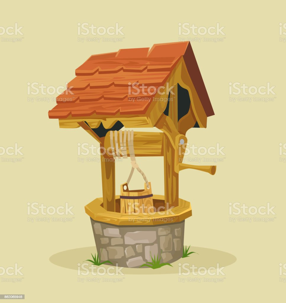 Isolated well vector art illustration