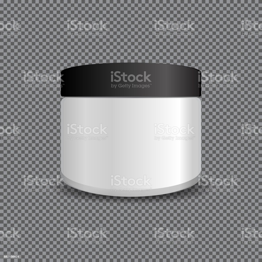 Isolated White Plastic Tube With Round Cap Vector Packaging Mock Up