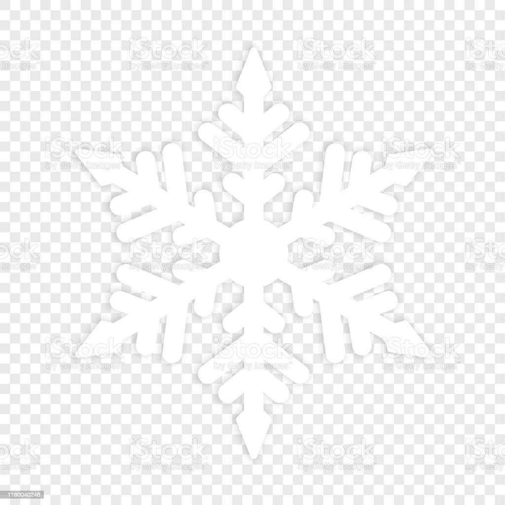 Isolierte Winterschneeflocke. grundbestandteil - Lizenzfrei Abstrakt Vektorgrafik