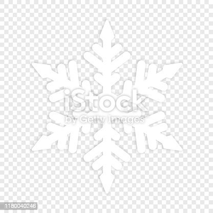 Isolated winter snowflake. Element for Christmas Background. Vector Illustration snow icon