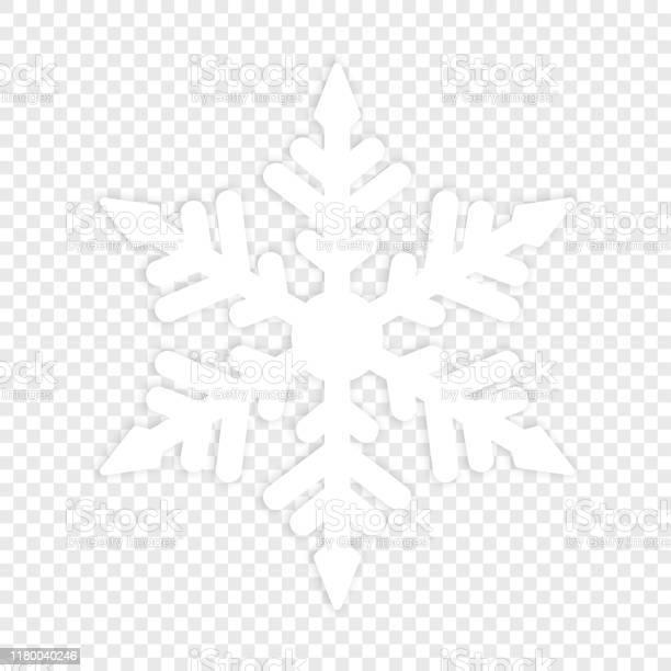 Isolierte Winterschneeflocke Grundbestandteil Stock Vektor Art und mehr Bilder von Abstrakt