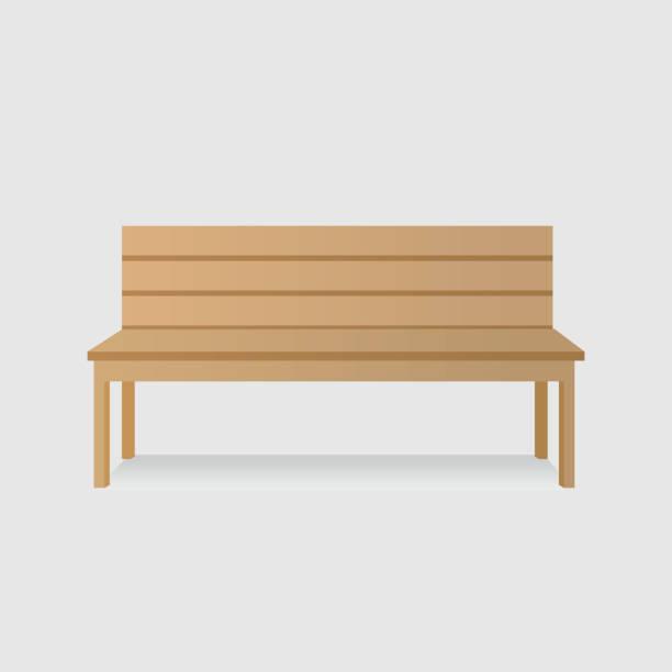 bildbanksillustrationer, clip art samt tecknat material och ikoner med isolerade träbänk - bench