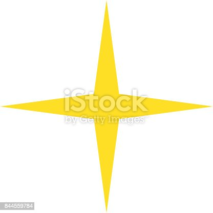 Isolated Yellow Gold Star Icon Ranking Mark Stock Vector Art More
