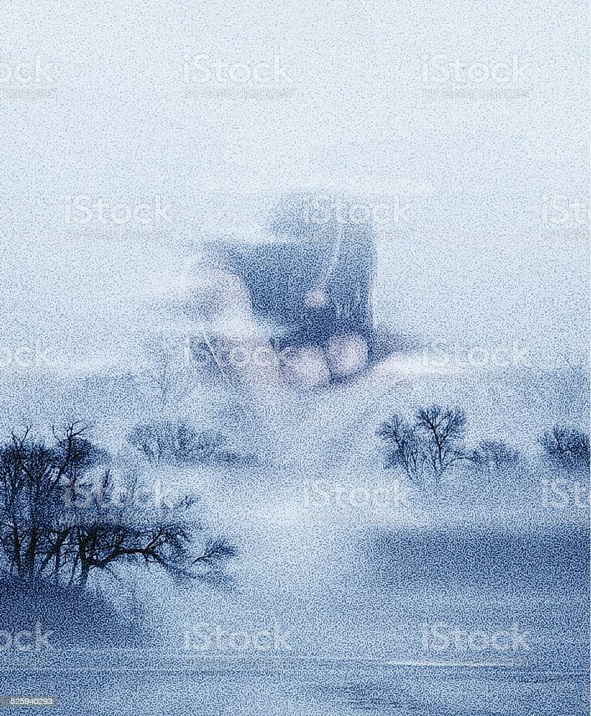 Isolation, Double Exposure vector art illustration
