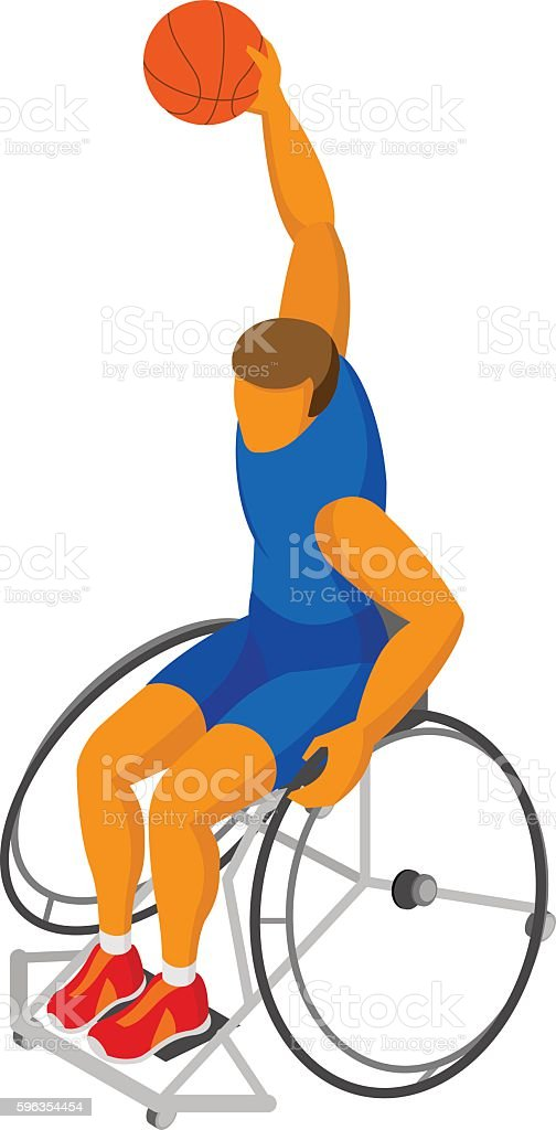 Isometirc 3D physically disabled basketball player royalty-free isometirc 3d physically disabled basketball player stock vector art & more images of adult