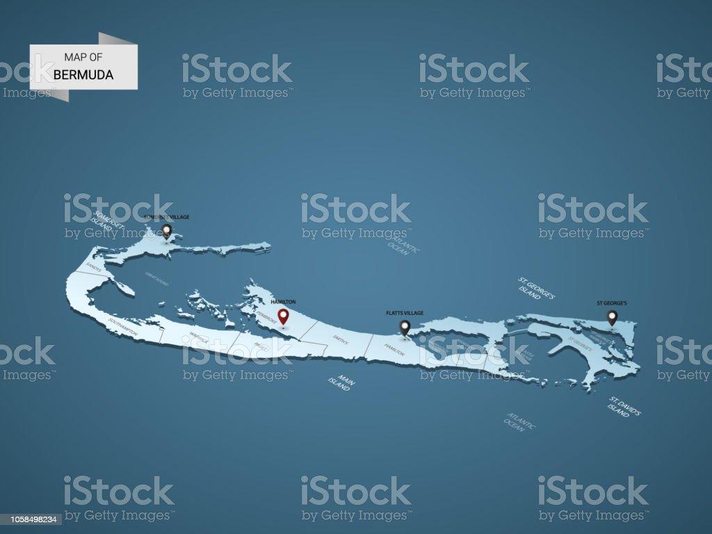 Concept Vector Isometric Map Bermuda Illustration Stock 3d SzMGUpqLV