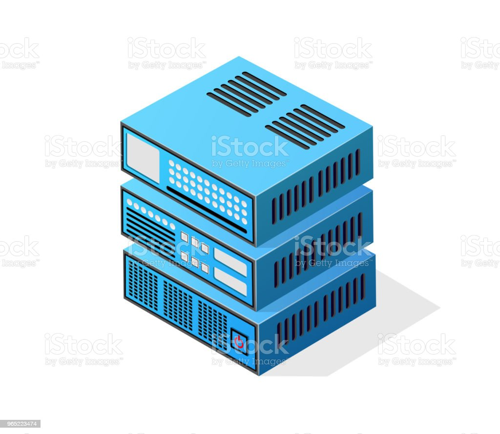 Isometric 3D computer royalty-free isometric 3d computer stock vector art & more images of bitcoin