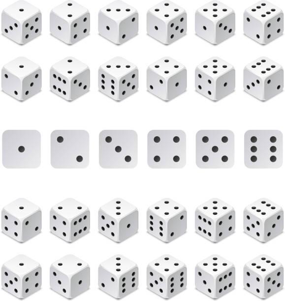 illustrazioni stock, clip art, cartoni animati e icone di tendenza di isometric 3d dice combination. vector game cubes isolated. collection for gambling app and casino concept - gioco dei dadi