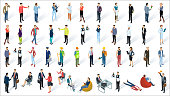 Isometric 3d flat design vector people
