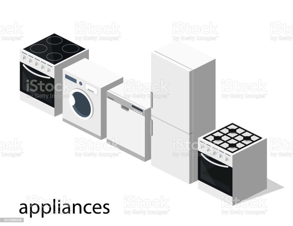 Kühlschrank Gas : Isometrische flache 3dillustration concept kollektion von