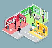 Isometric 3d Mobile Store Design