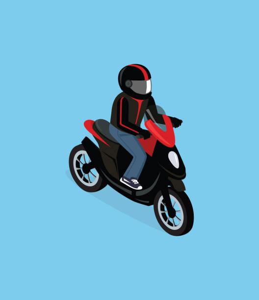 ilustrações de stock, clip art, desenhos animados e ícones de minibarra de ferramentas motorbiker 3d com motorizada - helmet motorbike