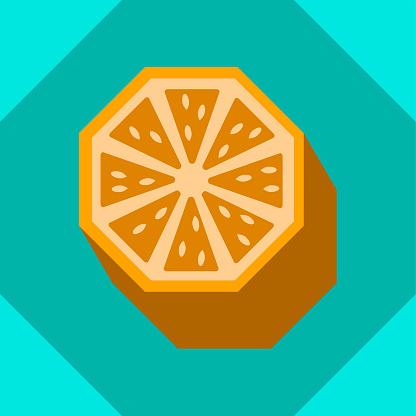 Isometric 3D Orange Icon or Symbol in Retro Style