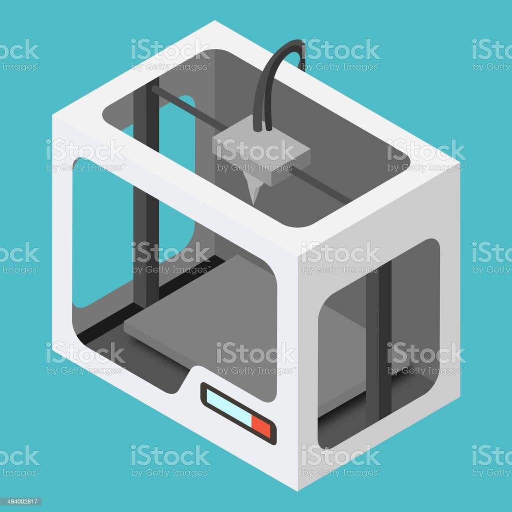 Isometric 3D-Drucker – Vektorgrafik