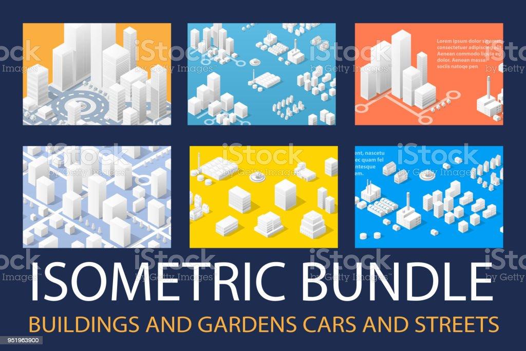 Isométrico 3D para diseño ilustración de isométrico 3d para diseño y más vectores libres de derechos de arquitectura libre de derechos