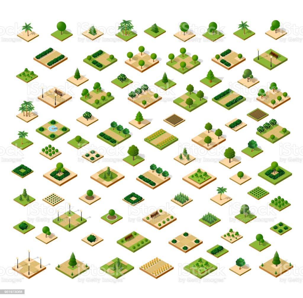 Isometric 3D set park
