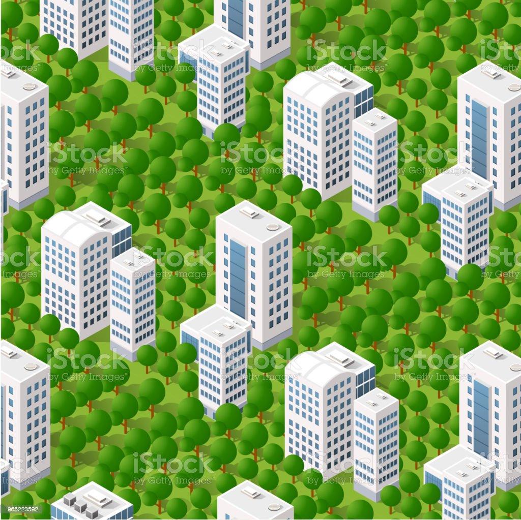 Isometric 3d trees forest isometric 3d trees forest - stockowe grafiki wektorowe i więcej obrazów abstrakcja royalty-free