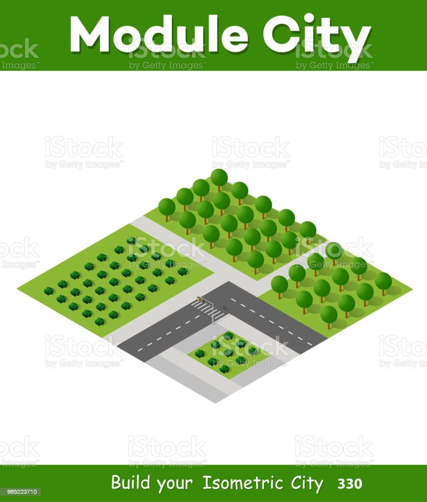 Isometric 3d trees forest royalty-free isometric 3d trees forest stock illustration - download image now