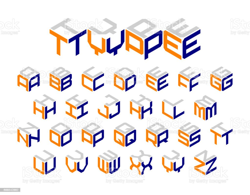 Isometric 3d type