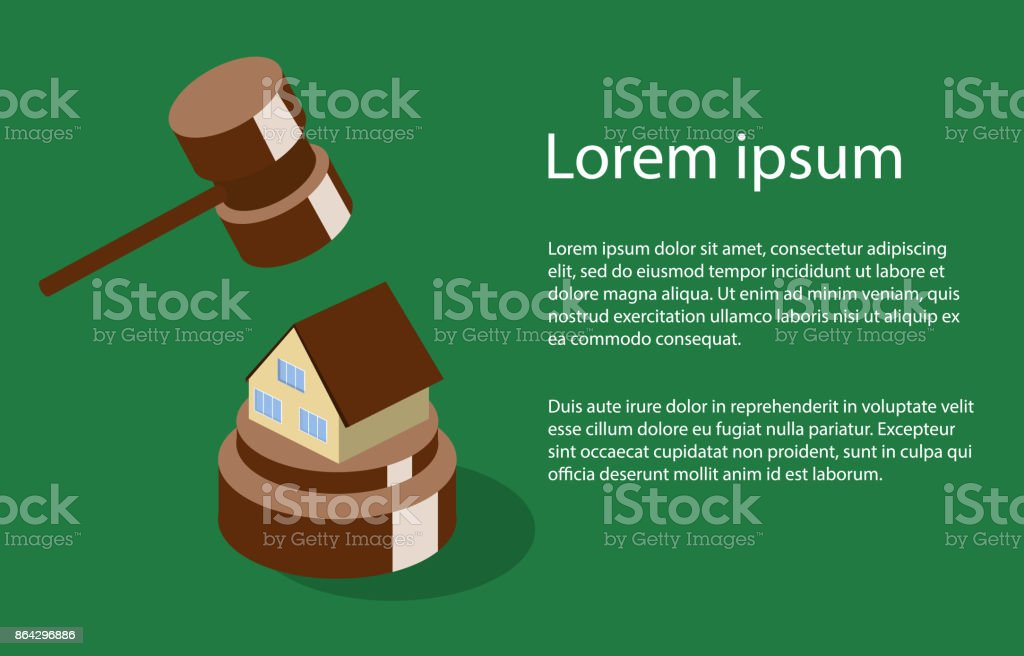 Isometric 3D vector illustration auction and bidding concept vector art illustration