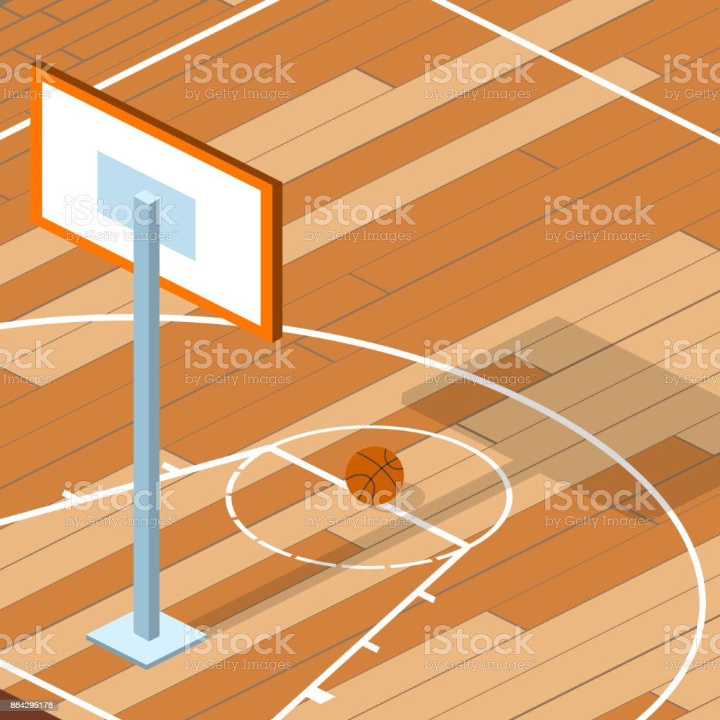 Isometric 3D vector illustration basketball field with a ball royalty-free isometric 3d vector illustration basketball field with a ball stock vector art & more images of abstract