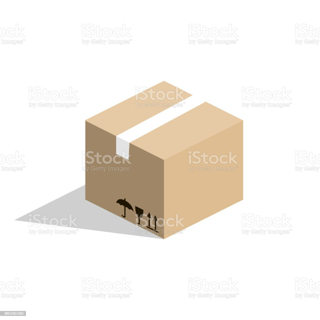 Isometric 3D vector illustration cardboard box for goods royalty-free isometric 3d vector illustration cardboard box for goods stock vector art & more images of abstract