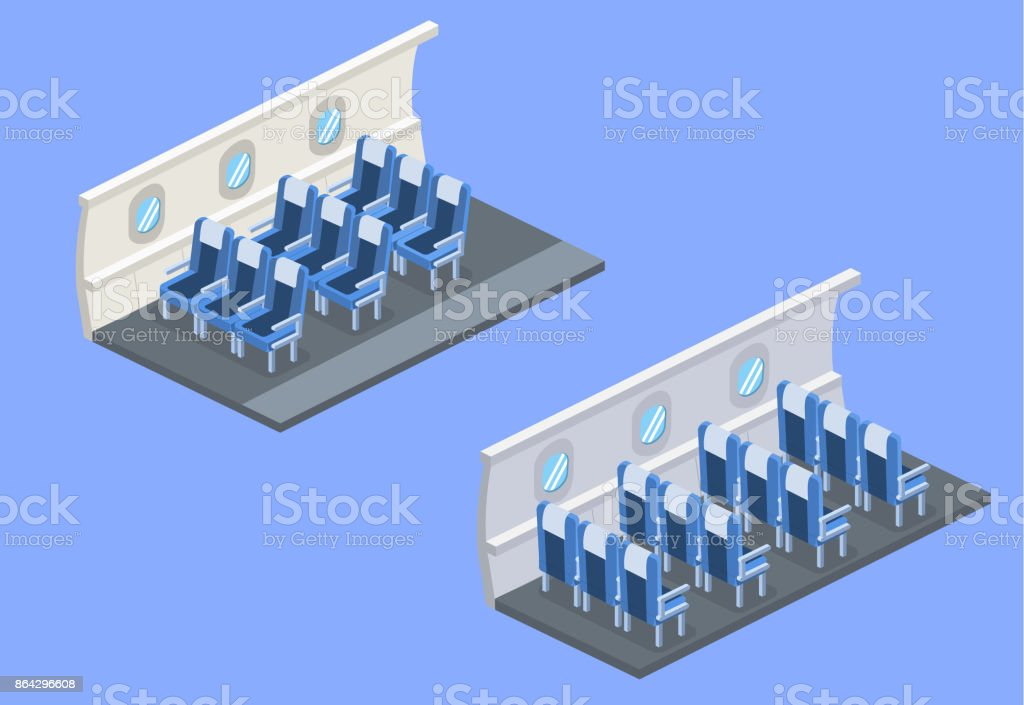 Isometric 3D vector illustration concept interior inside the plane with empty armchair royalty-free isometric 3d vector illustration concept interior inside the plane with empty armchair stock vector art & more images of abstract
