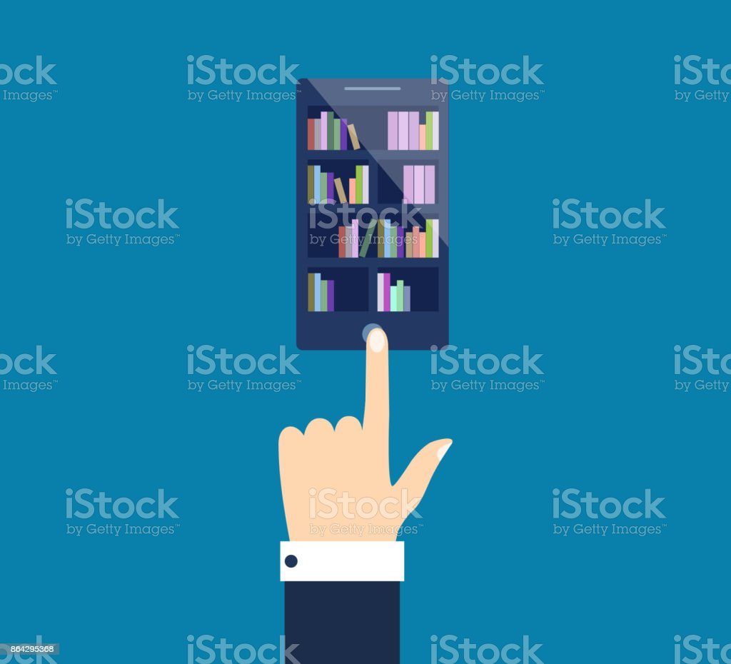 Isometric 3D vector illustration electronic library in the phone royalty-free isometric 3d vector illustration electronic library in the phone stock vector art & more images of accessibility