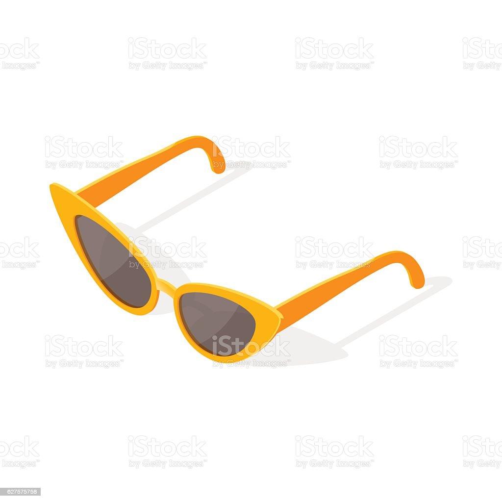 6e5d1512b5a Isometric 3d vector illustration of cat eye glasses. royalty-free isometric  3d vector illustration
