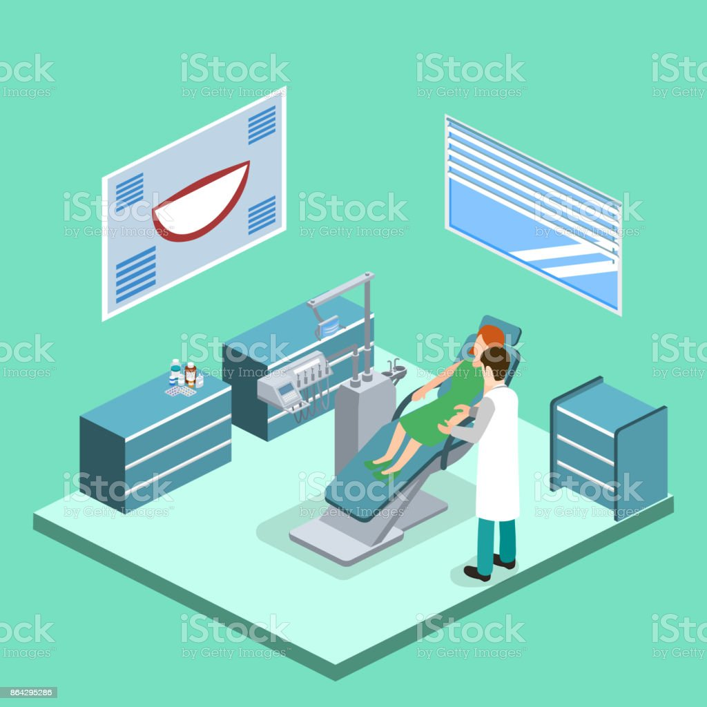 Isometric 3D vector illustration patient at a dentist's appointment royalty-free isometric 3d vector illustration patient at a dentists appointment stock vector art & more images of abstract