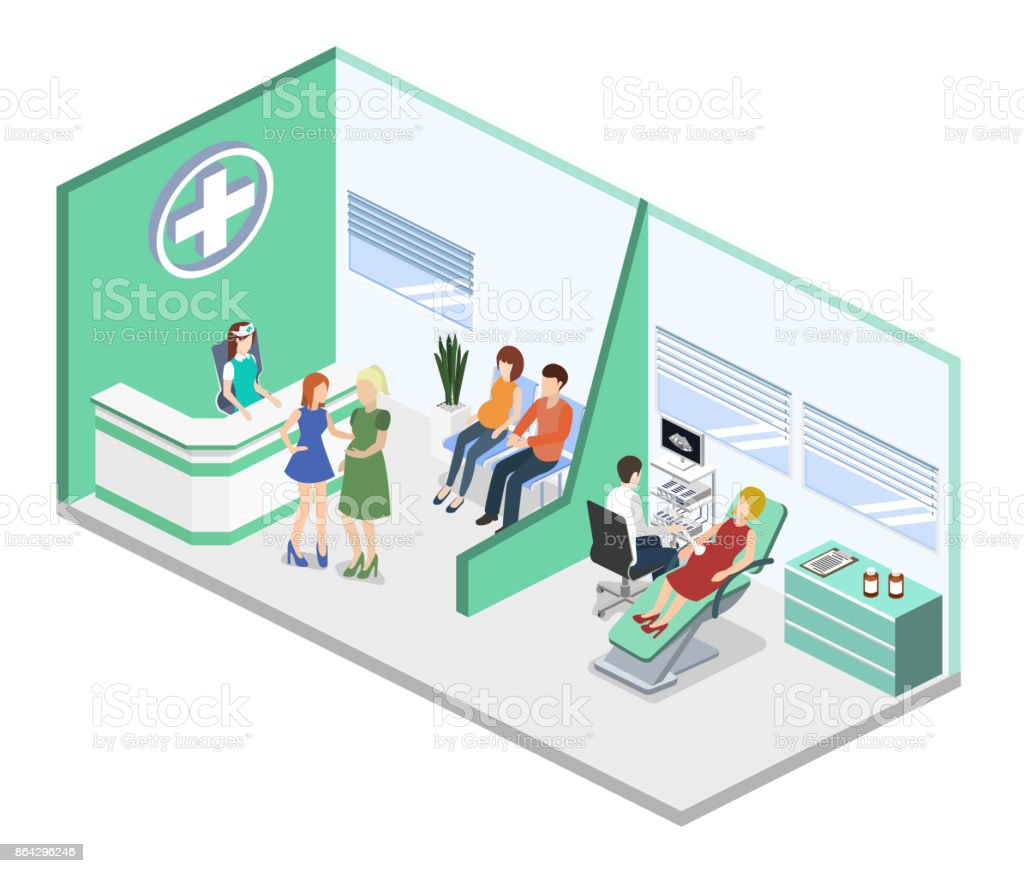 Isometric 3D vector illustration pregnant woman at a doctor's appointment royalty-free isometric 3d vector illustration pregnant woman at a doctors appointment stock vector art & more images of 3d ultrasound