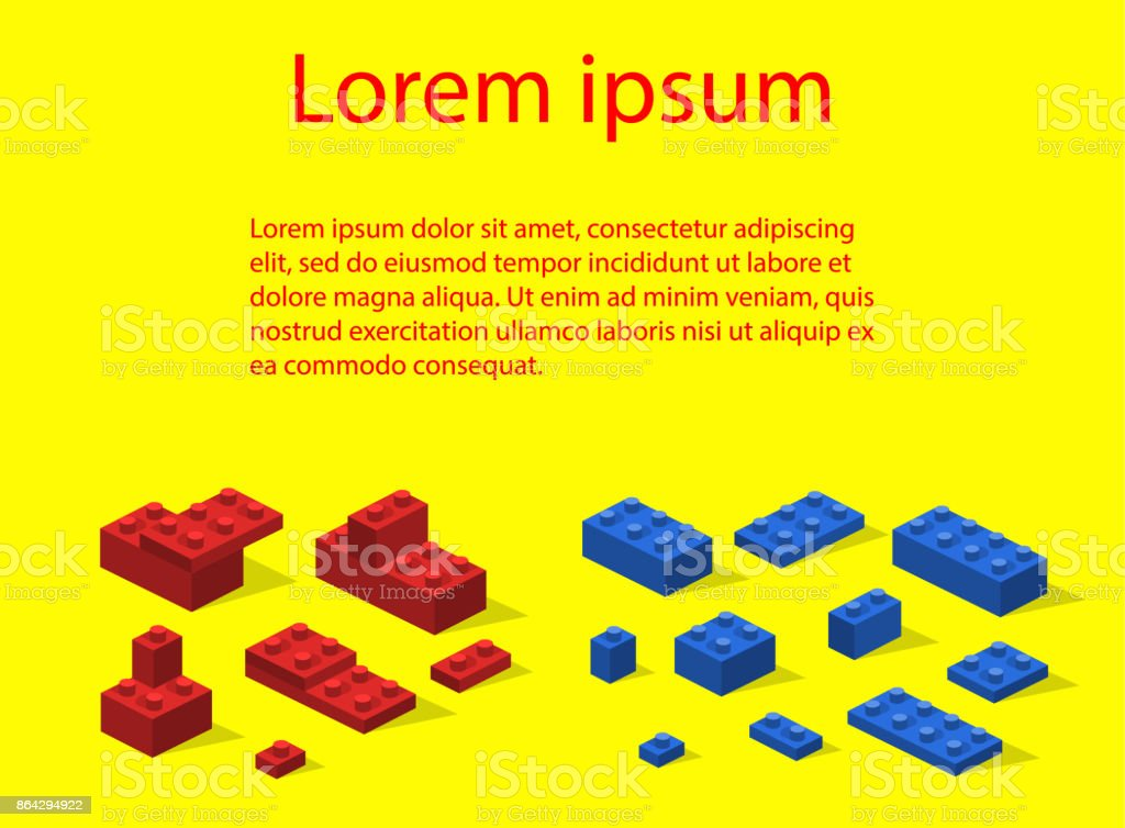 Isometric 3D vector illustration toy for children constructor and building blocks royalty-free isometric 3d vector illustration toy for children constructor and building blocks stock vector art & more images of abstract