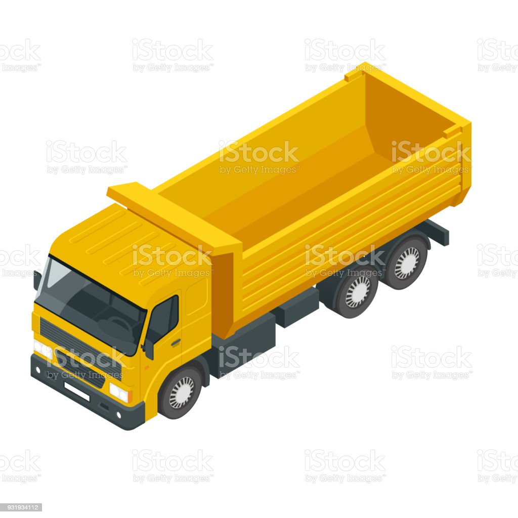 Isometric a dump truck dumper tipper truck isolated on white stock blueprint crane construction machinery cryptocurrency mining freight transportation plan document malvernweather Image collections